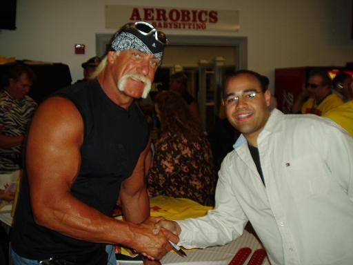 Hulk Hogan and Brenden Moore